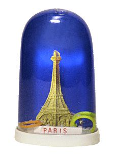 Eiffel Tower Ring Toss snow globe  from snowdomes.com