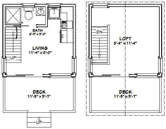 12x12 house w loft 12x12h1 268 sq ft excellent for 12x12 house plans