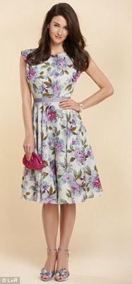 Floral prom-style dress by Jenny Packham