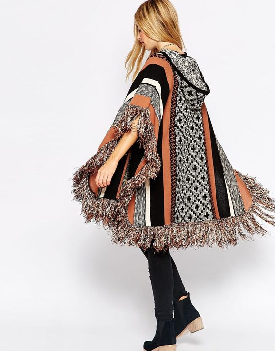 Poncho ~ indien