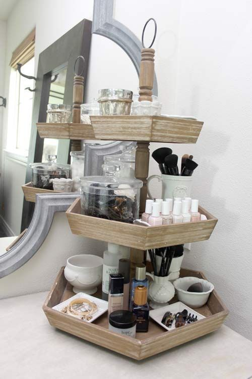 Makeup Bathroom Table And Makeup Tray On Pinterest