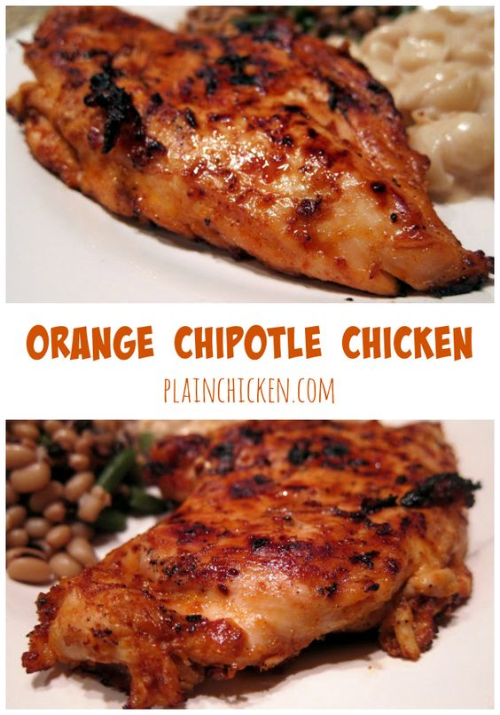 Grilled Chicken With Chipotle-Orange Glaze Recipe — Dishmaps