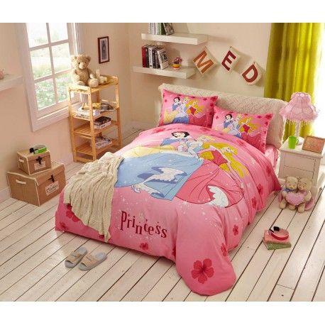 Disney Kinderbettwäsche günstig 3D Prinzessin Princess Königin pink Bedding Set Bettset