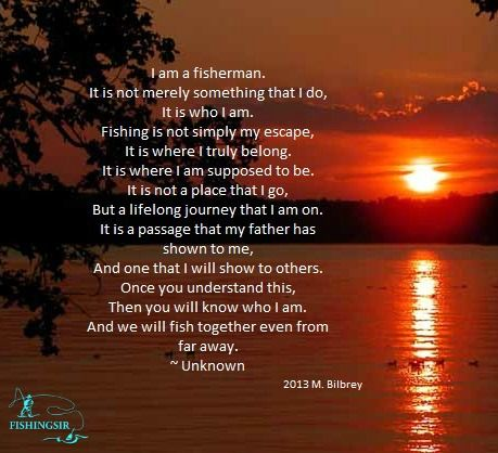 I am a fisherman fishing poem fishing quote for Quotes about fish