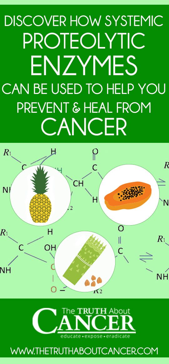 The use of systemic enzymes allows lower doses of chemotherapy to be used. It also helps to reduce the side effects of chemotherapy and to limit the waste buildup produced during treatment. /// Click on the image to discover how systemic proteolytic enzymes can be used to help you prevent & heal from cancer // The Truth About Cancer