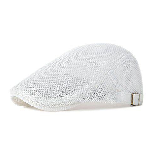Summer Men/'s Breathable Mesh Beret Newsboy Hats Ivy Cap Cabbie Flat Gatsby Hat