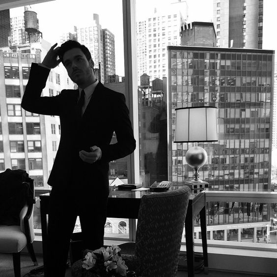 Richard Madden prepares for the Cinderella premiere in NYC