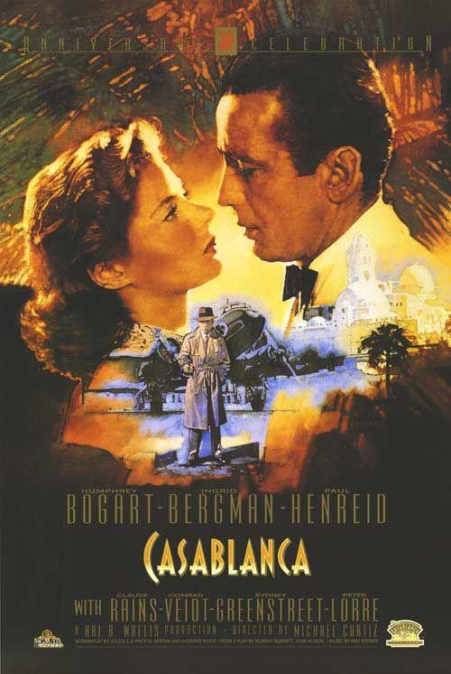 """""""Casablanca"""", clásico de 1942 interpretado por Ingrid Bergman y Humphrey Bogart y dirigido por Michael Curtiz."""