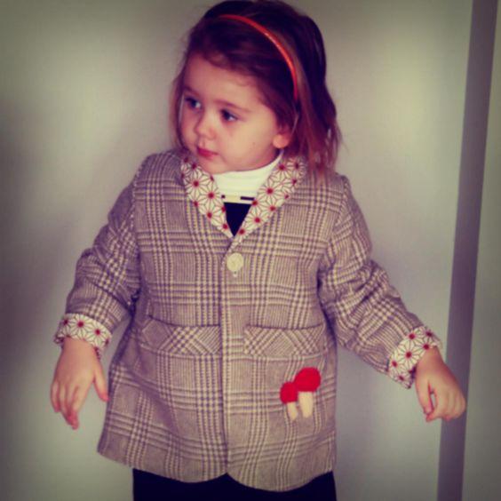 upcycled (down sized) grandpa jacket