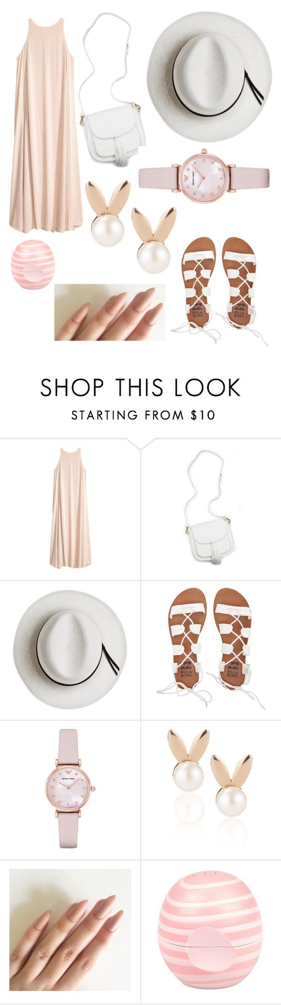 """"" by valevamps ❤ liked on Polyvore featuring beauty, Calypso Private Label, Billabong, Emporio Armani, Aamaya by priyanka and River Island"