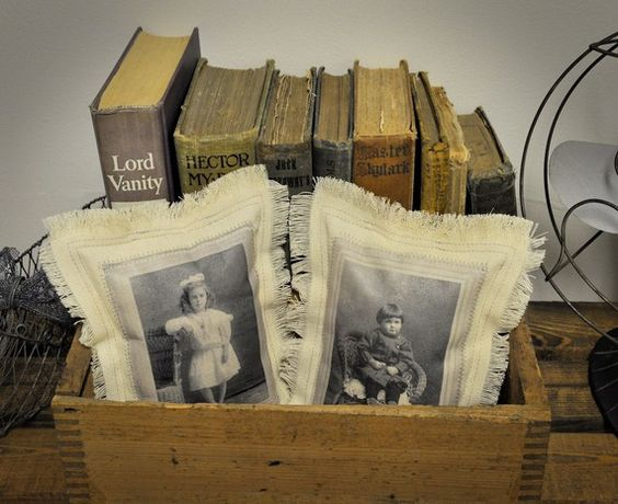 Make these vintage photo pillows: Scan old photos with iPhone or iPad + Pic Scanner app (Click to download), then follow this clever tutorial: http://pocketfulwhimsy.blogspot.com/2011/12/give-gift-marilyn-and-edna-do-not-read.html