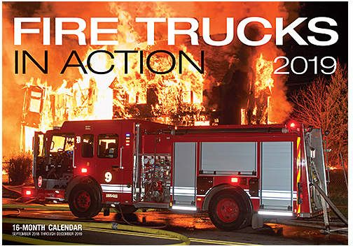 Fire Trucks In Action 2019 Calendar Fire Trucks Trucks 16