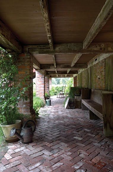 A hays town known for his deep porches houses and for Breezeway flooring ideas