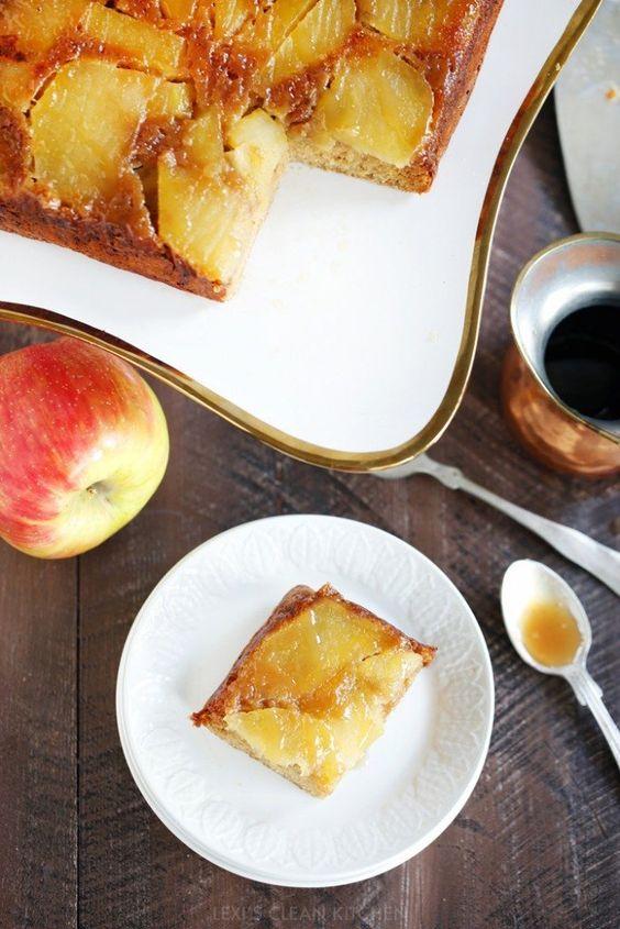 Paleo Caramel Apple Upside Down Cake | Lexi's Clean Kitchen