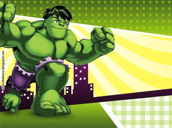 Resultado De Imagen Para Invitaciones De Hulk Para Imprimir Gratis
