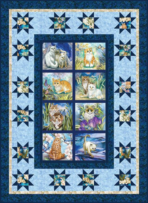 Pawsitive Pets Designed By Ariga Mahmoudlou For Robert Kaufman Features Be Pawsitive By Jody Bergsma Shipping To Stores D Quilt Patterns Quilts Free Quilting