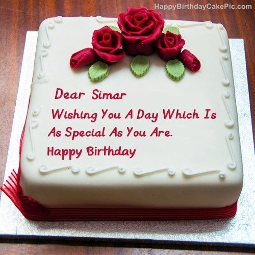 Simar Happy Birthday Best Birthday Cake For Lover For Simar