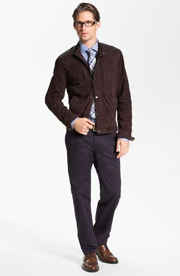 Michael Kors Racer Jacket, 1901 Dress Shirt & Dockers® Chinos ...