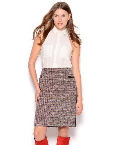 Celine Multicolor Tweed Skirt- Made in France  Dress #ShirtWomen #Dresses