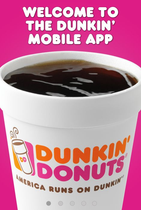 IntroDDucing the Dunkin' App! Click on pin to download to your iPhone or Android.