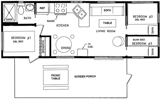 12x40 floor plans parkmodel floorplan 745x459