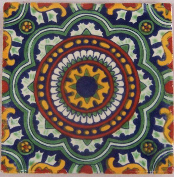 "90  4x4"" Handmade Ceramic Tile Mexican Folk Art  C228 #Talavera"