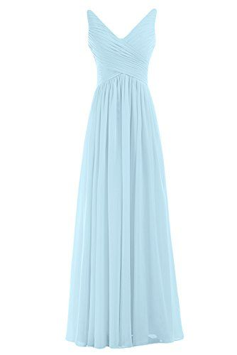 Sunvary Woman A-line Chiffon Bridesmaid Dresses Wedding Guest Gowns Mother of the Bride Dress Prom Gown Long US Size 2- Light Sky Blue Sunvary http://www.amazon.com/dp/B00MA0BLPQ/ref=cm_sw_r_pi_dp_V1DSub1YT2X45
