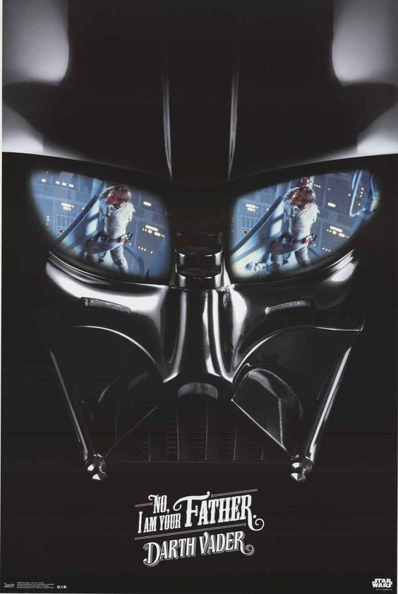Star Wars Darth Vader I Am Your Father Movie Poster 22x34 More: