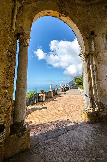 Terrace of Infinity, Villa Cimbrone, Ravello, Italy, province of Salerno , Campania