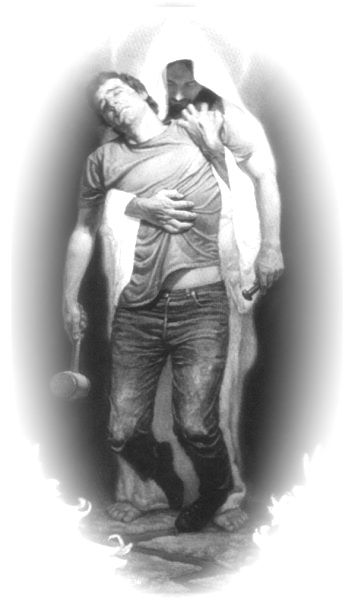 jesus holding man with hammer - Google Search | tattoo ...