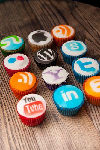 Social Media Cupcakes. #Delicious
