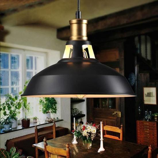 Luminaire Suspendue Plafonnie Retro Industriel Edison