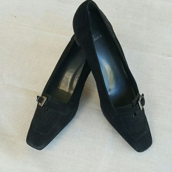 Sweet Stuart Weitzman Black suede Stuart Weitzman shoes. Perfect condition Stuart Weitzman Shoes