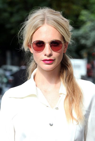 Poppy Delevingne Round Sunglasses - Modern Sunglasses Lookbook - StyleBistro: