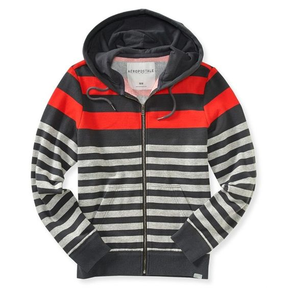 aeropostale mens multi stripe hoodie sweatshirt mens