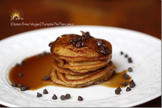 Gluten and Dairy Free Pumpkin Pie Pancakes