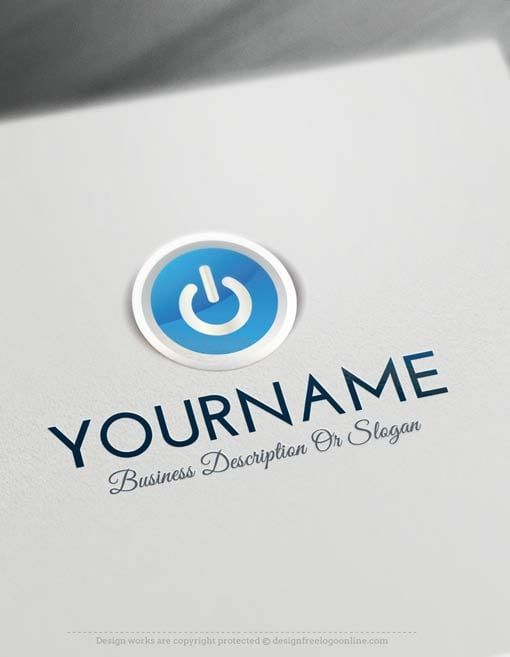 Create A Logo For Free Online Play Button Computers Logo Templates Computer Logo Create A Logo Free Logo Design Free Templates