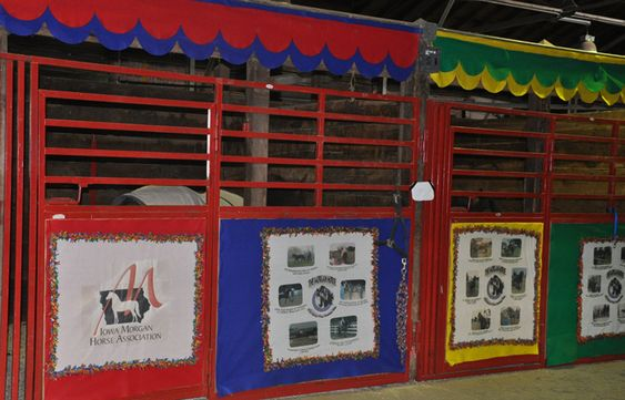 Horse Stall decorations for State Fair | The Morgans were set up behind the Avenue of Breeds. They went all out ...