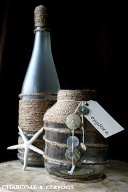Charcoal and Crayons: Beach Bottles