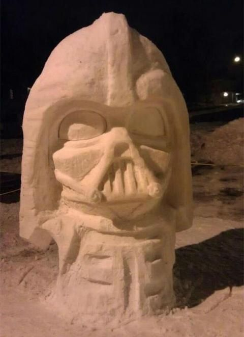 star wars snow sculpture #snowSculpture #snow #winter #sculpture #movie