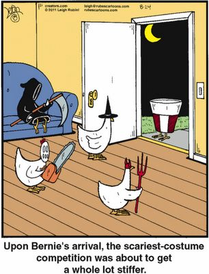 Halloween Funnies - Costume Party, I just love chicken jokes - my favorite topic