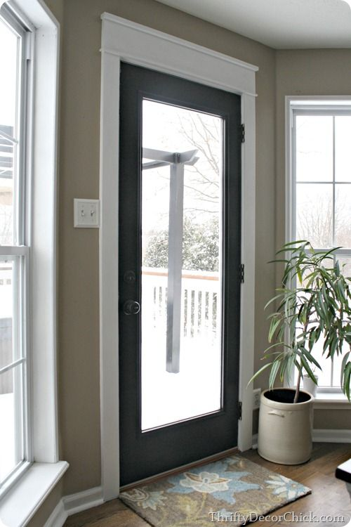 Craftsman the white and door trims on pinterest - Black craftsman front door ...