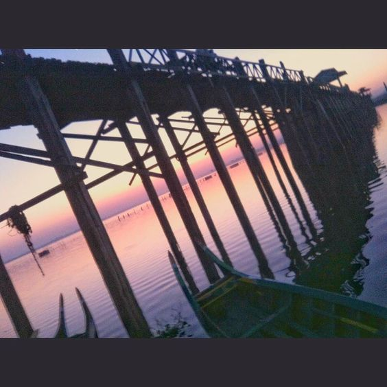 U Bein Bridge is a crossing that spans the Taungthaman Lake. Amarapura Myanmar. #InSearchOf #ॐ  The construction was started in 1849 and finished in 1851. Myanmar construction engineers used traditional methods of scaling and measuring to build the bridge. According to historic books about U Bein Bridge Myanmar engineers made scale by counting the footsteps. #  Who did that? # #Twitter @PeterRanger #SpirituallyP  What happened? #SpirituallyPromiscuous #Journey  When did it take place?…