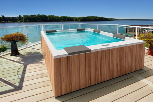 Portable hot tub / rectangular / 9-seater / outdoor MUSE by Marc Sadler GRUPPO…