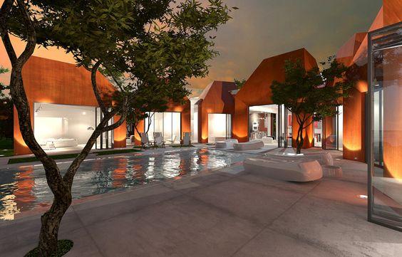 Mineral residence on Jeju Island by Planning Korea