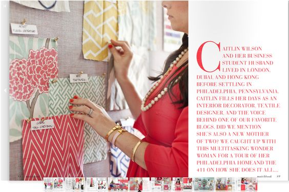 caitlin wilson design: style files: Matchbook Magazine July Feature!