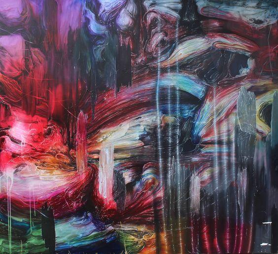Josh Foley - Underground, Oil-acrylic-on-linen
