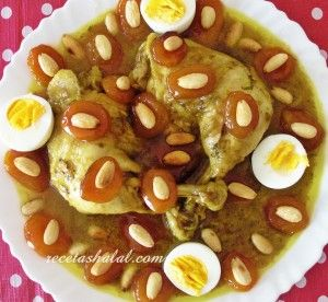 Tajine de pollo con albaricoques caramelizados https://es.pinterest.com/Marycris60/cocina-arabe/