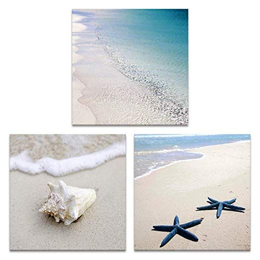Amazon Com Innopics 3 Piece Black White Tropical Sea Sand Beach