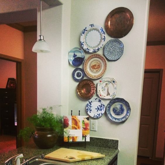 Plate collage in my kitchen